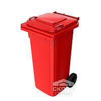 Мусорный бак для ТБО 120 л красный (Германия)