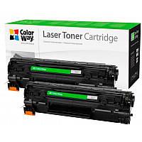 Картридж Canon 728, Black, MF4410/MF4430/MF4450/MF4550/MF4570/MF4580, 2.1k, ColorWay, Dual Pack (CW-C728FM)