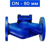Клапан обратный подъемный фланцевый, Ду 80/ 4,0 МПа/  350 °С/ сталь/ уплотнение нерж.сталь