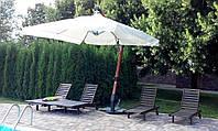 """Консольный зонт """"XL""""с куполом -4x4м (с деревянной стойкой)"""