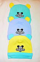 Детская теплая шапка с Микки Маусом, фото 1