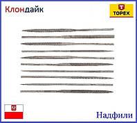Надфили 10 шт TOPEX 06A020