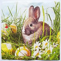 Салфетка для декупажа Кролик 25*25 см, 1 шт