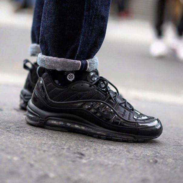 Кроссовки Supreme x Nike Air Max 98 black  купить в Днепропетровске ... c788c5f6149