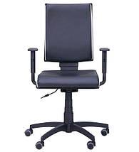 Кресло Спейс механизм FS HB Неаполь-20 черный/боковины Неаполь-50 белый., фото 2