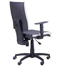 Кресло Спейс механизм FS HB Неаполь-20 черный/боковины Неаполь-50 белый., фото 3