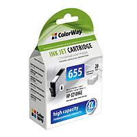 Картридж HP №655 (CZ109AE), Black, DJ4615/4625/3525/5525, 20 ml, ColorWay (CW-H655B)