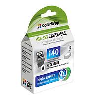 Картридж HP №140 (CB336HE), Black, PSC J5783, 10 ml, ColorWay, Ink Level (CW-H140XL-I)