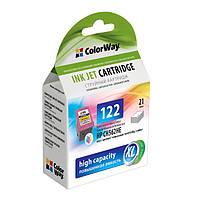 Картридж HP №122 (CH562HE), Color, DJ 2050, 21 ml, ColorWay, Ink Level (CW-H122XLC-I)
