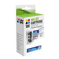 Картридж HP №15 (C6615DE), Black, DJ840C/920С/940С, 50 ml, ColorWay (CW-H15B)