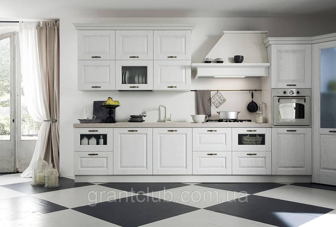 Итальянская классическая белая кухня SIVIGLIA Patinata Bianca фабрика EFFE QUATTRO