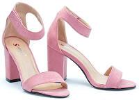 Летние женские босоножки розового цвета размеры 38,40
