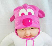 Шапка для новорожденных 0--7 месяцев