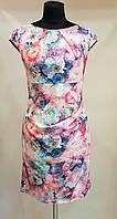 Летнее красивое платье в розово-сиреневых тонах  (Италия)