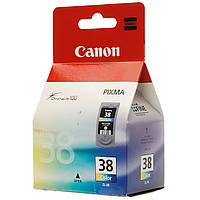 Картридж Canon CL-38, Color, iP1800/1900/2500/2600, MP140/190/210/220/470, MX300/310, 9 ml, OEM