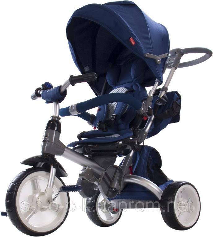 Трехколесный велосипед-коляска Sun Baby Little Tiger T500. Цвет: синий