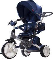 Трехколесный велосипед-коляска Sun Baby Little Tiger T500. Цвет: синий, фото 1