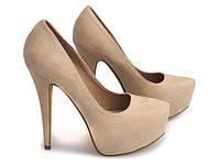 Красивые женские туфли из замша