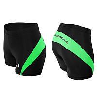 Спортивные шорты женские Radical Flexy (Польша), термошорты с зелеными вставками