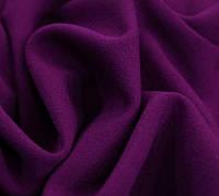Ткань Креп костюмно плательный стрейчевый , цвет Фиолетовый