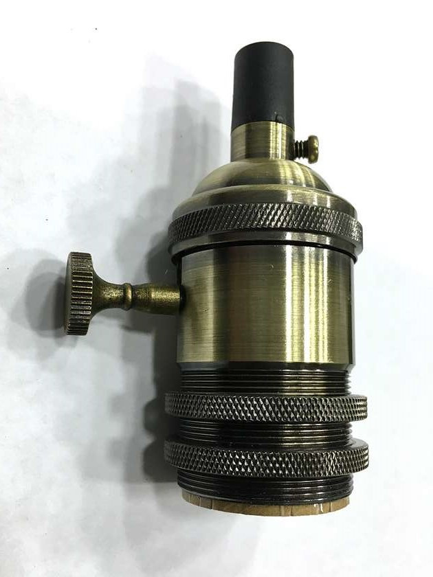 AMP патрон 15 с выключателем bronze old (в сборе )