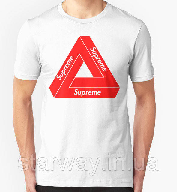 Футболка белая | Supreme palace logo |