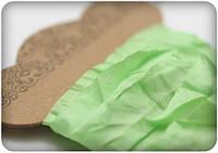 Лента-шебби свежий зеленый 15мм\1м