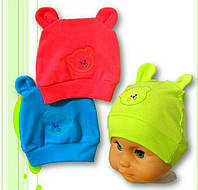 Детская летняя шапка с ушками 0-6 месяцев