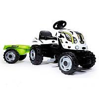 Детский педальный трактор с прицепом Smoby COW FARMER XL 710113