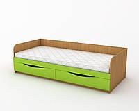 Кровать 190х80 см. С ящиками, Цвет на выбор КДО-001Я