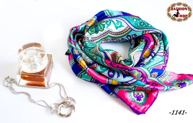 Брендовый шёлковый платок ETRO (реплика), фото 2