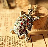 """Модная подвеска украшение на цепочке """"Черепаха"""", цвет античная бронза, фото 1"""