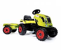 Детский педальный трактор с прицепом Smoby CLAAS 710114