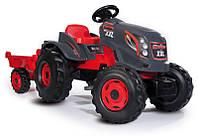 Детский педальный трактор с прицепом Smoby Stronger 710200