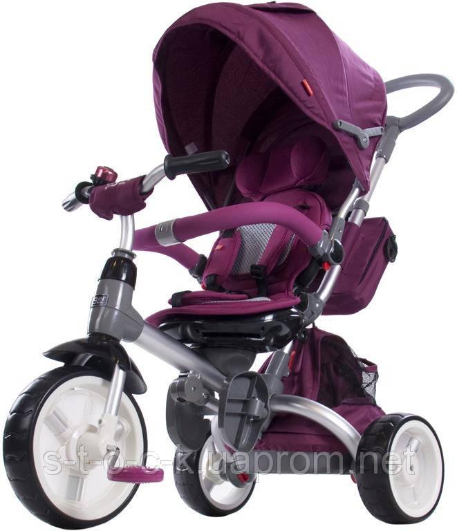 Трехколесный велосипед-коляска Sun Baby Little Tiger T500. Цвет: бордо