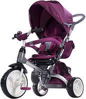 Трехколесный велосипед-коляска Sun Baby Little Tiger T500. Цвет: бордо, фото 1