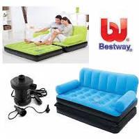 Надувной диван с электронасосом Bestway 67356