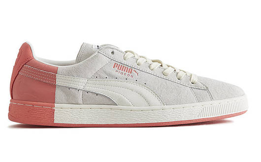 "Женские кроссовки Staple x PUMA Suede ""Pigeon"" Star White & Georgia Peach"