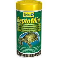 Tetra ReptoMin Sticks 250мл - корм для любых видов водных черепах в гранулах ( 761346 )