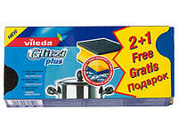 Губки для сильно загрязненной посуды и кастрюль Glitzi plus, Vileda, 2+1 шт.