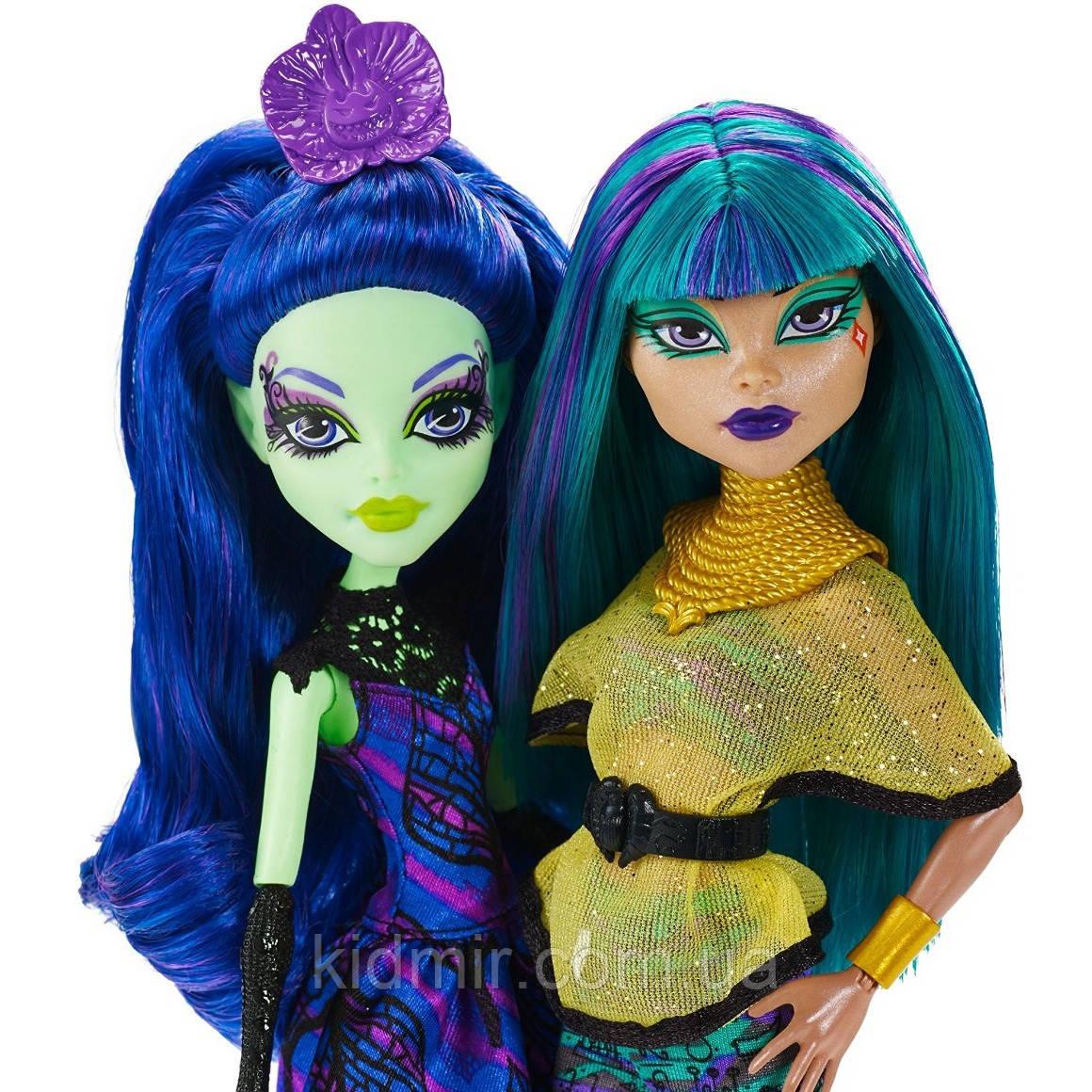 Набір ляльок Monster High Аманіта і Нефера (Nefera de Nile & Amanita) Крик і Цукор Монстер Хай