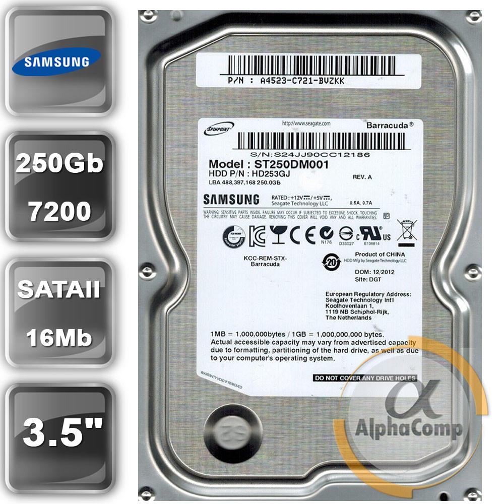 "Жесткий диск 3.5"" 250Gb Samsung HD253GJ (16Mb/7200/SATAII) БУ"