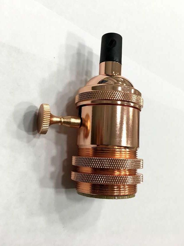 AMP патрон 15 rose gold с выключателем (в сборе )