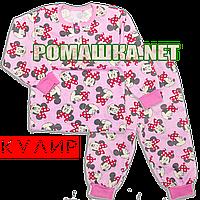 Детская пижама для мальчика тонкая р. 92-98 ткань КУЛИР 100% тонкий хлопок ТМ Алекс 3185 Розовый 92