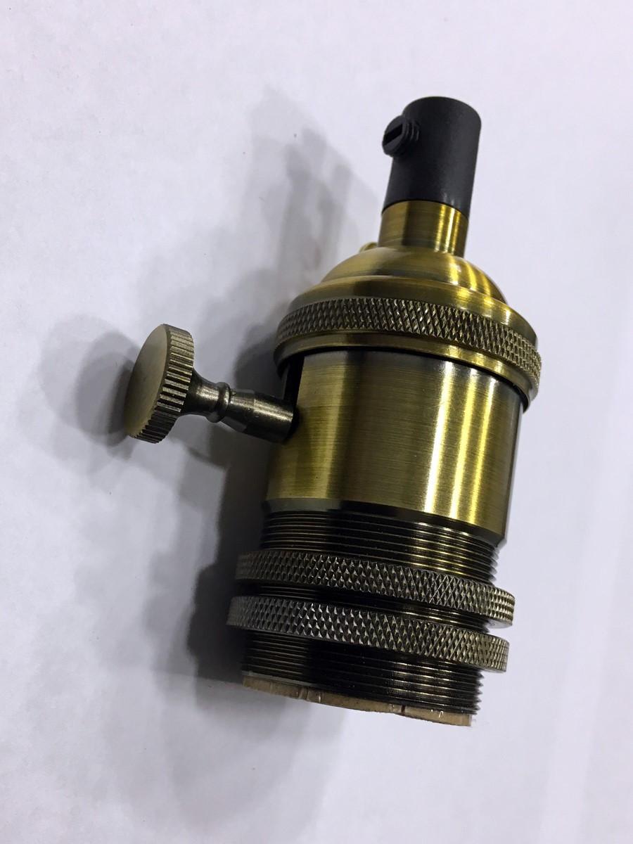 AMP патрон 15 gold old copper с выключателем (в сборе )