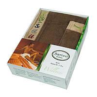 Набор для сауны мужской, 2 предмета Gursan Bamboo коричневый