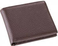 Стильное мужское кожаное портмоне TIDING BAG 8062C, коричневый