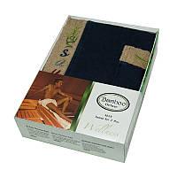 Набор для сауны мужской, 2 предмета Gursan Bamboo темно-синий