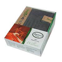 Набор для сауны мужской, 2 предмета Gursan Bamboo серый