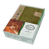 Набор для сауны мужской, 2 предмета Gursan Bamboo зеленый